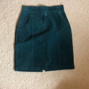 Dresses & Skirts - Green Suede Skirt